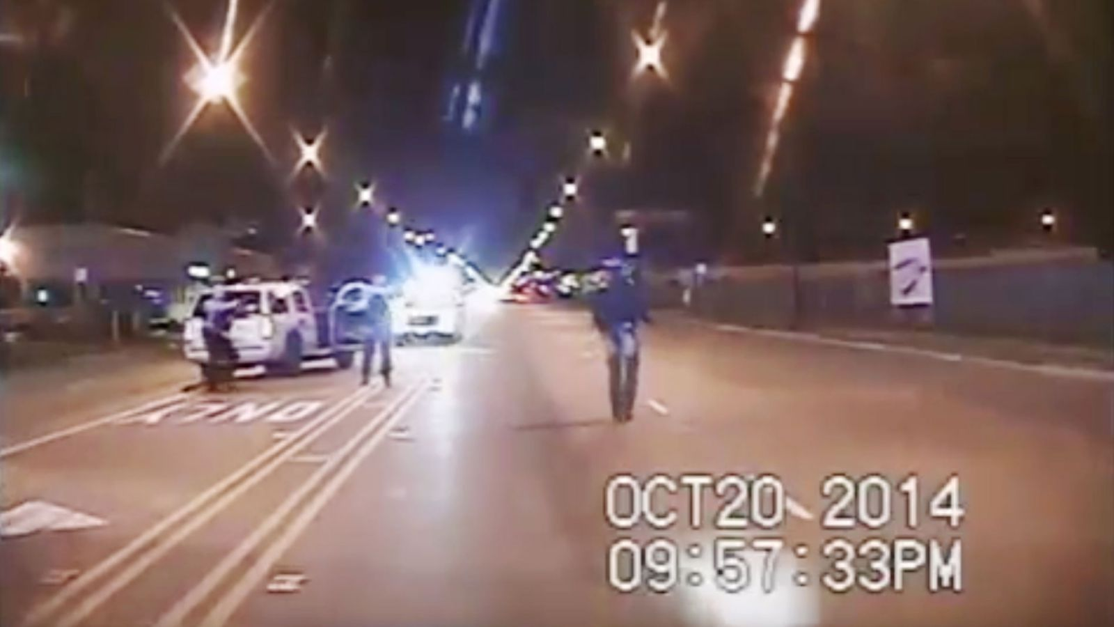 Screenshot from the released Laquan McDonald video