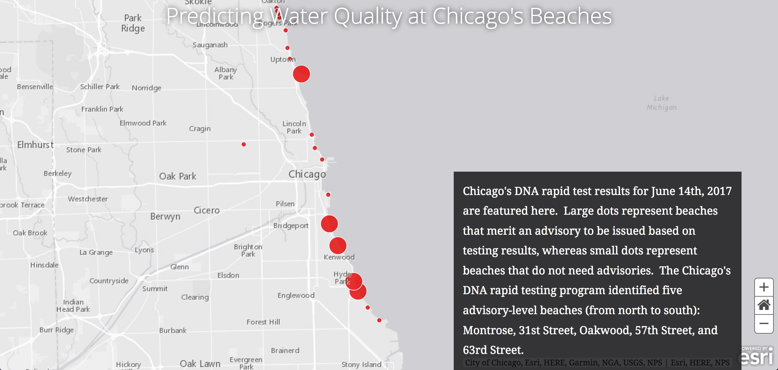 Predicting Water Quality at Chicago's Beaches