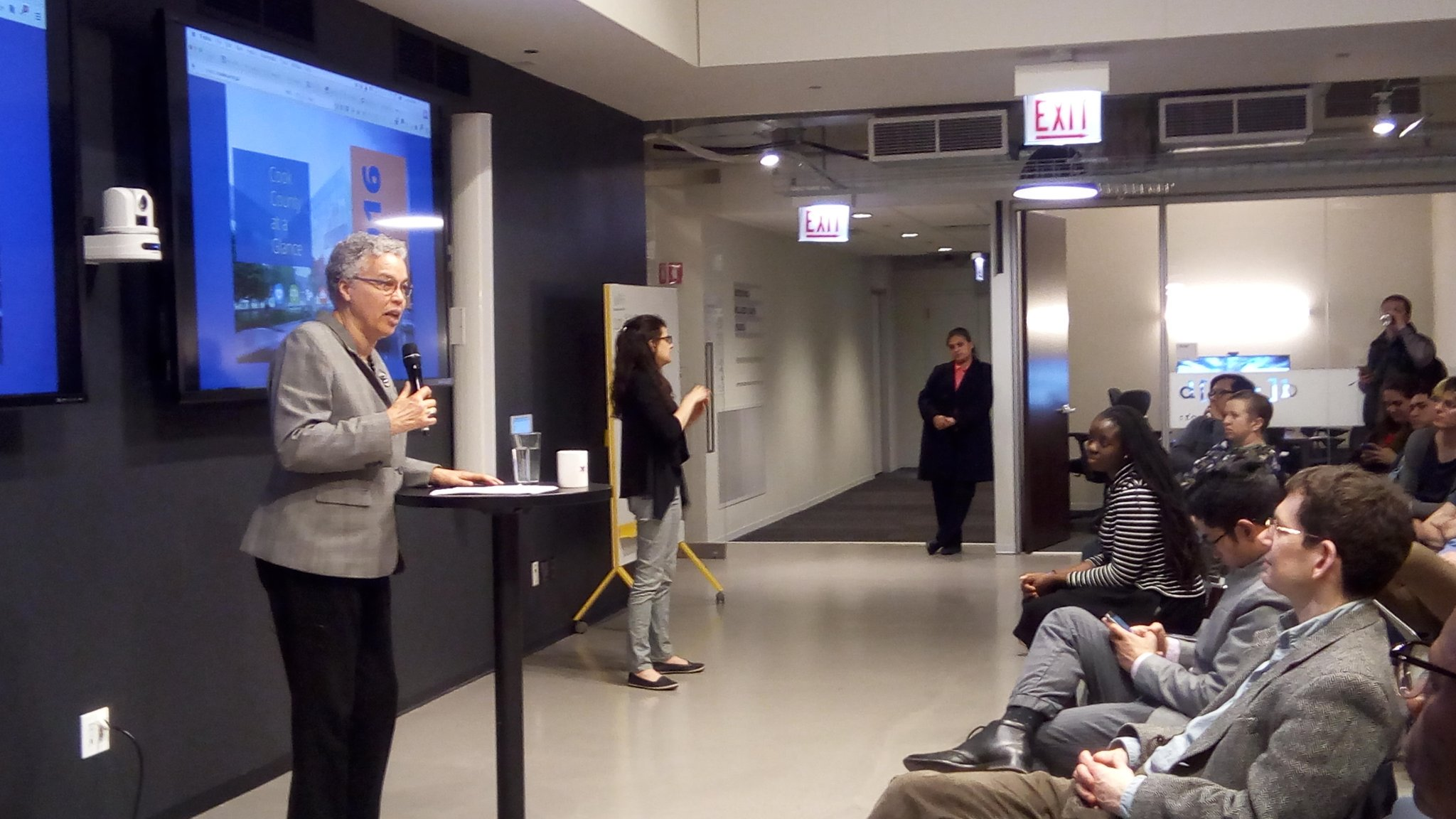Cook County Board President Toni Preckwinkle at Chi Hack Night
