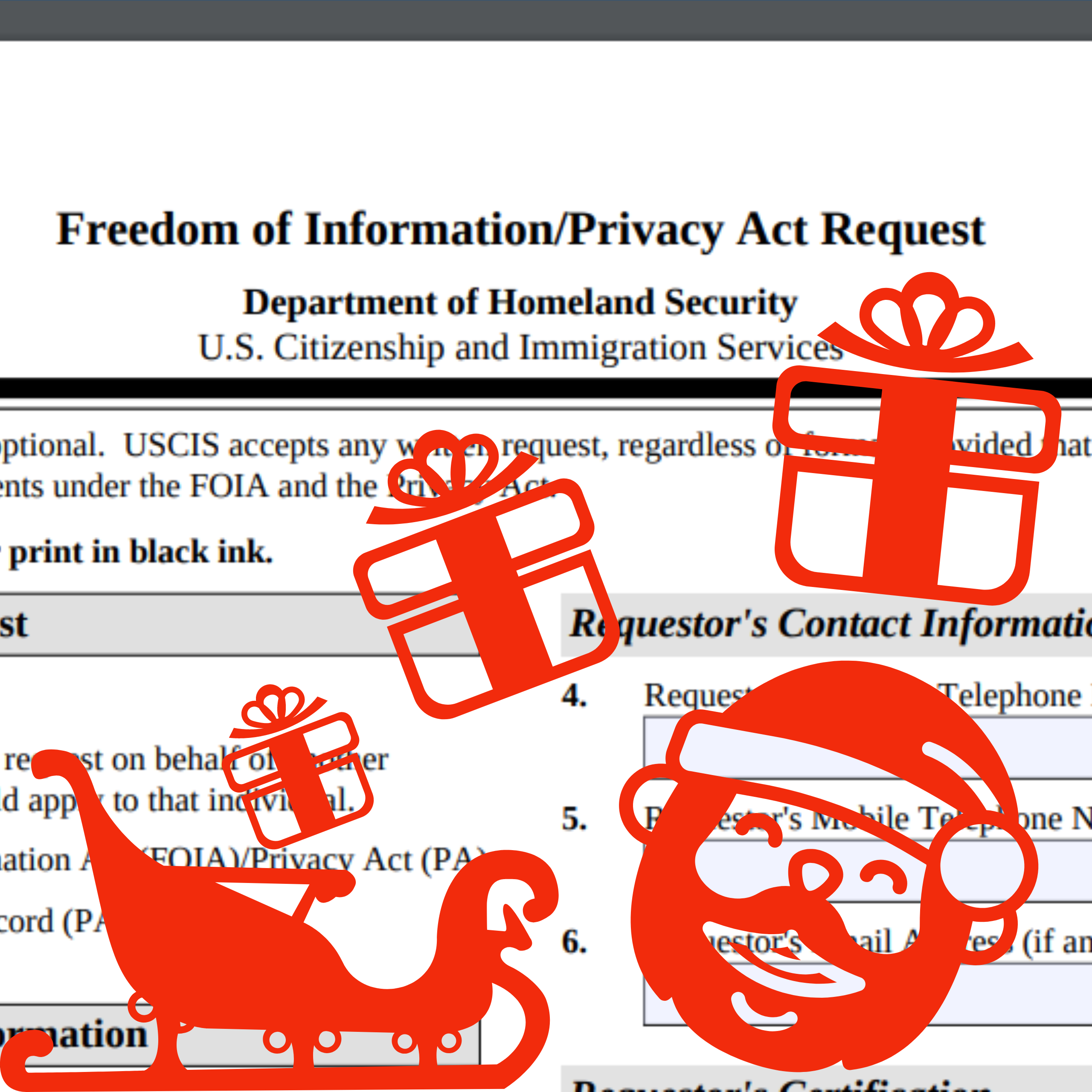 FOIA for Christmas!