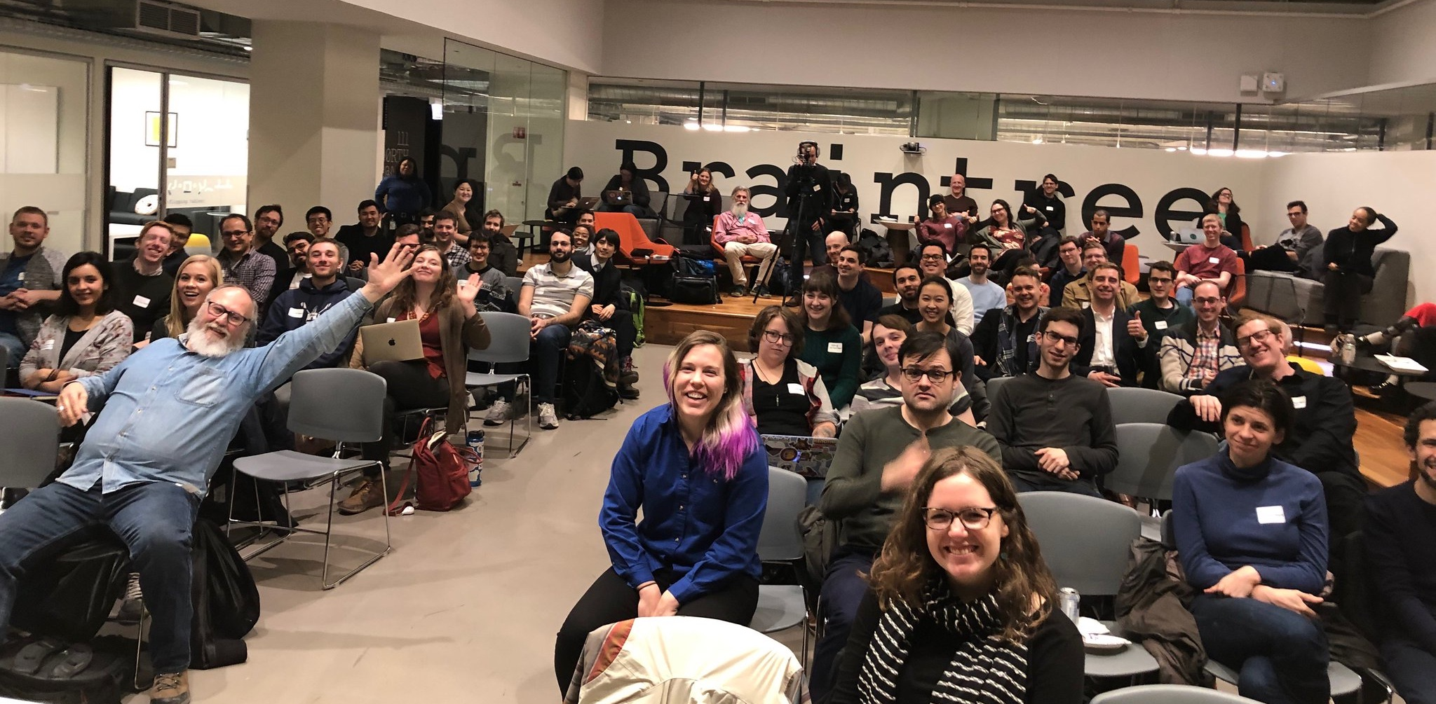 Become one of these smiling people. Be a Chi Hack Night Member!
