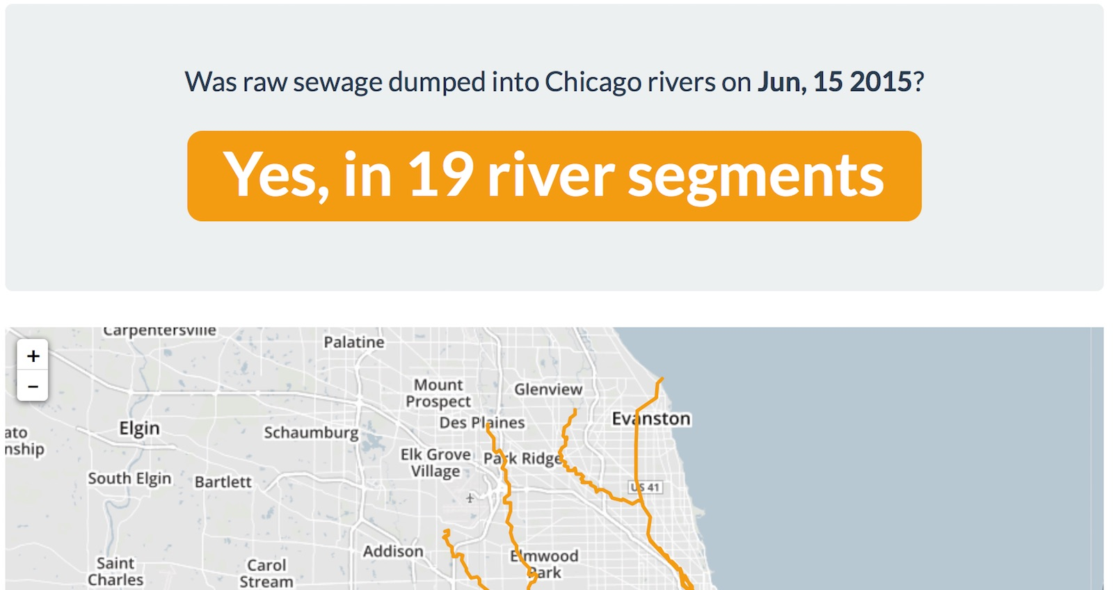 Is There Sewage in the Chicago River